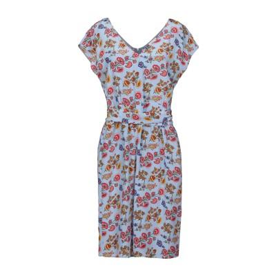 アティックアンドバーン ATTIC AND BARN ミニワンピース&ドレス スカイブルー 42 シルク 100% ミニワンピース&ドレス