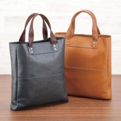 国産 鞄職人の逸品 本牛革 A4 メンズ手提げバッグ(A4サイズ トートバッグ 革 縦 ビジネス 通勤 通学 大学生) 1-2W