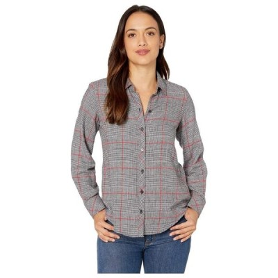 フォックスクラフト レディース シャツ トップス Petite Zoey Brushed Glen Plaid Shirt
