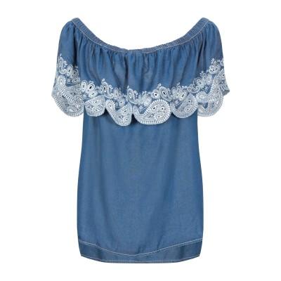 DKNY デニムシャツ ブルー XS テンセル 100% デニムシャツ