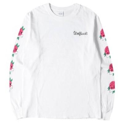 ROTT WEILER ロットワイラー Tシャツ 18SS ローズ プリント ロングスリーブTシャツ Rose LS Tee ホワイト S 【メンズ】【中古】【美品】