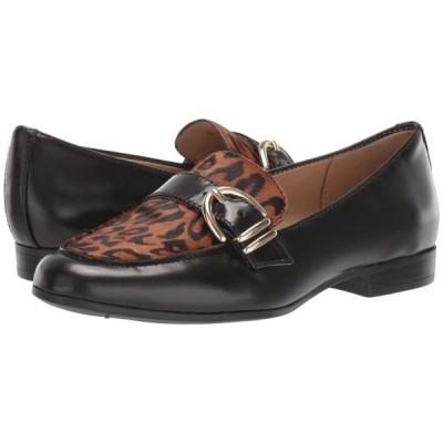 ナチュラライザー Naturalizer レディース ローファー・オックスフォード シューズ・靴 Janie Black Cheetah Brush-Off Leather