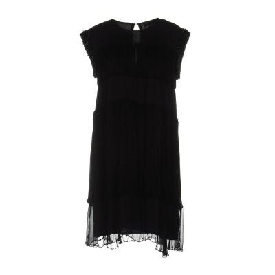 ツインセット シモーナ バルビエリ TWINSET ミニワンピース&ドレス ブラック S レーヨン 100% ミニワンピース&ドレス