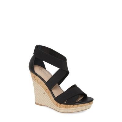 チャールズ・デイビッド サンダル シューズ レディース Azures Platform Wedge Sandal Black Leather