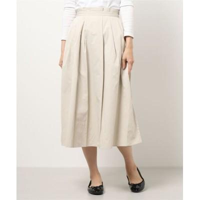 スカート タックギャザーロングスカート