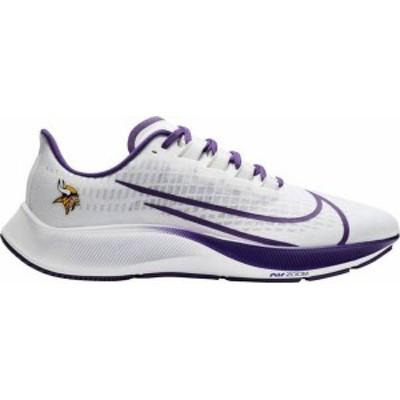 ナイキ レディース スニーカー シューズ Nike Minnesota Vikings Air Zoom Pegasus 37 Running Shoes White/Purple