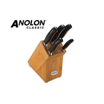Anolon - Classic - Kitchen Knife Block - 6 Piece Set - Japanese Steel - Durable Construction - Comfortable Handle 並行輸入品