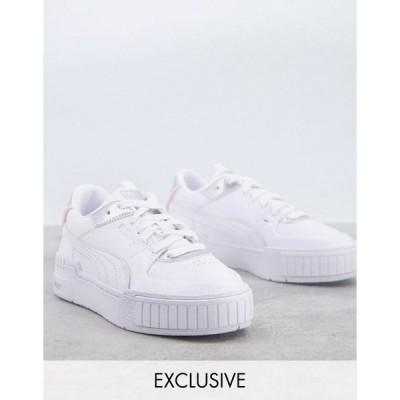 プーマ レディース スニーカー シューズ PUMA Cali Sport sneakers in white and silver - Exclusive to ASOS White/silver