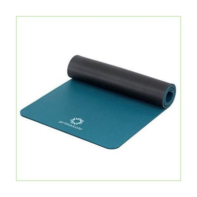 """PRIMASOLE Yoga Mat Eco-Friendly Material 1/2"""" Non-Slip Yoga Pilates Fitness at Home & Gym Twin Color Jango Green/Black. PSS91NH075A「並行"""