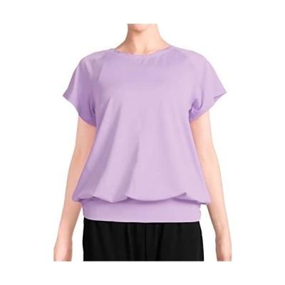 [プラネットシー] Tシャツ ヨガウェア フィットネス レディース トップス Planet-C pc-232 (ラベンダー M)