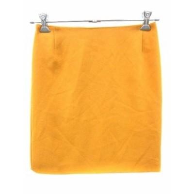 【中古】ユナイテッドアローズ UNITED ARROWS スカート 台形 ミニ 40 黄色 イエロー /YK レディース