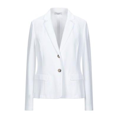 ペゼリコ PESERICO テーラードジャケット ホワイト 44 コットン 85% / ナイロン 15% テーラードジャケット