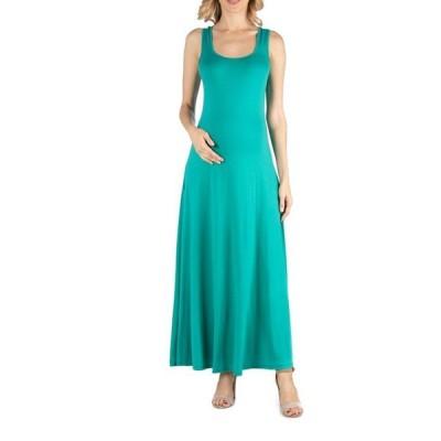 24セブンコンフォート レディース ワンピース トップス Slim fit A Line Sleeveless Maternity Maxi Dress