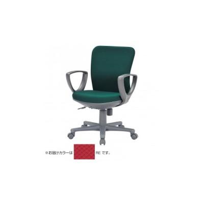 代引き不可 アイコ 事務用チェア ローバックサークル肘タイプ OA-1155CJ(FG3)RE   4514974822132