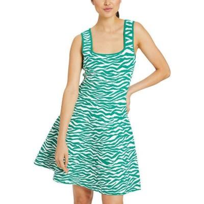 ミリー ワンピース トップス レディース Milly A-Line Dress leaf & white