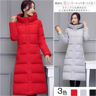ロングコート レディース服 韓国ファッション TKFIRDY15554 綿服 アウター防寒  大きいサイズ  お出かけ 秋冬物 シンプル エレガント 暖か