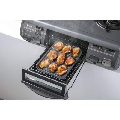 イシガキ産業 グリルパン 波型 黒 S 約幅18×奥24.5×高0.7cm グリル名人 スチール プレート IH ガス火 食器洗浄機