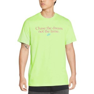 ナイキ メンズ シャツ トップス Nike Men's Sportswear Chase The Dream T-Shirt Lt Liquid Lime