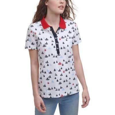 トミー ヒルフィガー レディース シャツ トップス Sailboats Polo Shirt