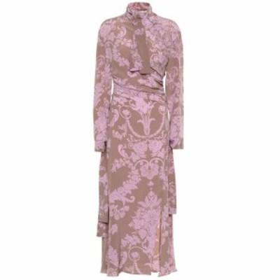 アクネ ストゥディオズ Acne Studios レディース ワンピース ワンピース・ドレス Printed silk dress Brown/Purple