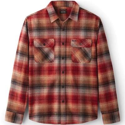 Brixton Bowery L/S Flannel Shirt Dark Brick S ネルシャツ 送料無料