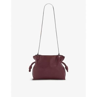 ロエベ LOEWE レディース クラッチバッグ バッグ Flamenco drawstring leather clutch bag MALBEC