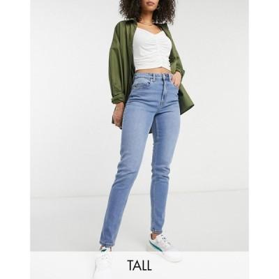 ヴェロモーダ Vero Moda Tall レディース ジーンズ・デニム ボトムス・パンツ mom jeans in light blue ライトブルー