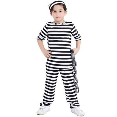 コスプレ 囚人服 キッズ 犯人 子供用 犯罪 ハロウィン 囚人 宴会 パーティ  子供 コスチューム 衣装 仮装 ハロウイン ハロウィーン ハロウィン衣装 コスプレ衣装