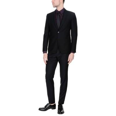 ラルディーニ LARDINI スーツ ブラック 52 ウール 100% スーツ