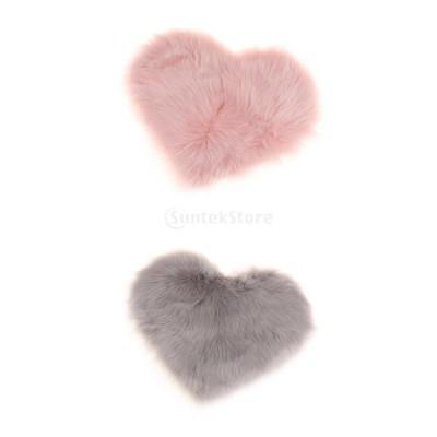 ポリエステル 床のカーペット マット クロールマット 子供の遊びパッド 窓パッド 柔らかい 暖かい ピンク&グレー 2個セット