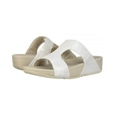 FitFlop フィットフロップ レディース 女性用 シューズ 靴 サンダル H-Bar Shimmerlizard - Silver