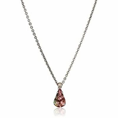 Sorrelli Delicate Drop Pendant Necklace, Antique Silver-Tone Finish, Satin Blush