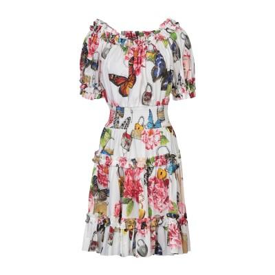 ドルチェ & ガッバーナ DOLCE & GABBANA ミニワンピース&ドレス ホワイト 44 コットン 100% ミニワンピース&ドレス