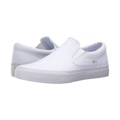 DC ディーシー メンズ 男性用 シューズ 靴 スニーカー 運動靴 Trase Slip-On TX - White/White