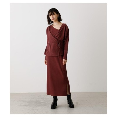 (AZUL by moussy/アズールバイマウジー)MULTI WAY CACHECOEUR ONEPIECE/レディース BRD