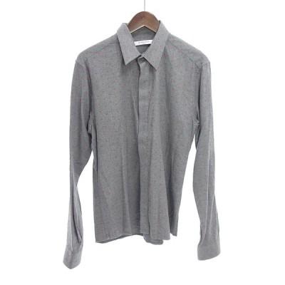 ジバンシィ/GIVENCHY 15AW プラス総柄コットンシャツ 01G20 サイズ メンズ38 グレー ランクA 102  (中古)