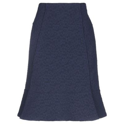 ローラン ムレ ROLAND MOURET ひざ丈スカート ダークブルー 14 ナイロン 84% / コットン 16% ひざ丈スカート