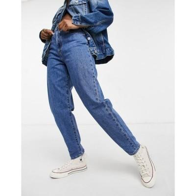 リーバイス レディース デニムパンツ ボトムス Levi's high loose tapered leg jeans in mid wash Hold my purse