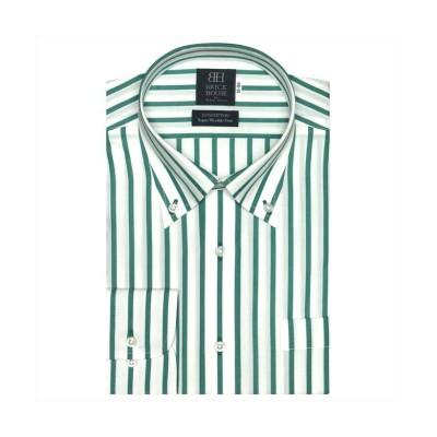 (BRICKHOUSE/ブリックハウス)ワイシャツ 長袖 形態安定 ボタンダウン ピマ 標準体 メンズ/メンズ グリーン