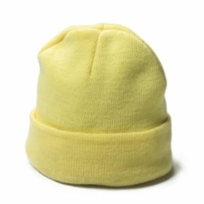 Ray BEAMS レイビームス アクリルワッチキャップ フリー イエロー ニットキャップ ビーニー 帽子