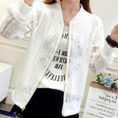 ミニミニストア miniministore レースアウター 透かし編み 冷房対策 (ホワイト)