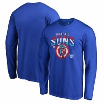 Fanatics Branded ファナティクス ブランド スポーツ用品  Fanatics Branded Phoenix Suns Royal Captains Shield Long Sleeve T-Shirt