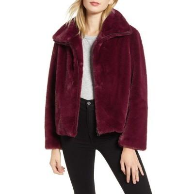 フレンチコネクション レディース ジャケット&ブルゾン アウター Buona Faux Fur Jacket BERRY BLUS