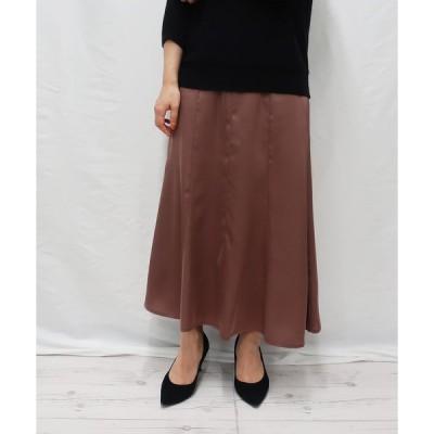 スカート サテンマーメイドスカート