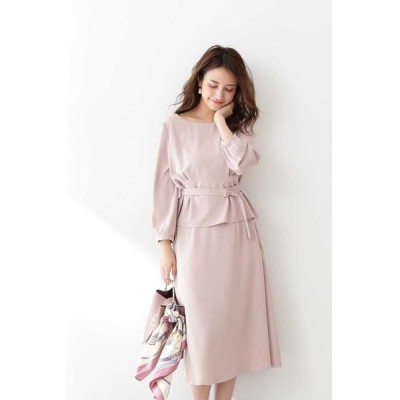 PROPORTION BODY DRESSING/プロポーションボディドレッシング  ◆ベルト付ブラウス×スカートセットアップ ベージュ 3