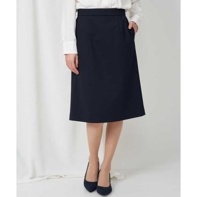 スカート 【セットアップ対応/洗える】トリコットカノコAラインスカート