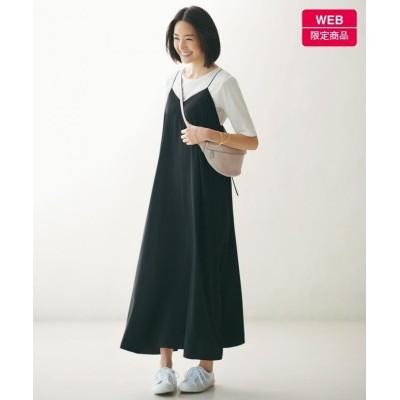 【自由区】 キャミソールドレス Tシャツセット[WEB限定](検索番号F57) レディース ブラック系 40 JIYU-KU