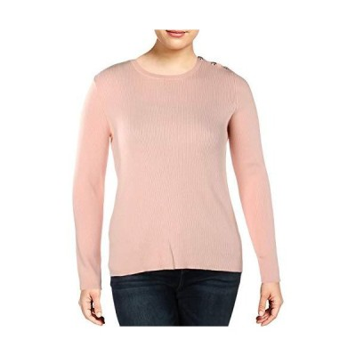 Ralph Lauren Womens Button Detail Pullover Sweater, Pink, Small並行輸入品 送料無料