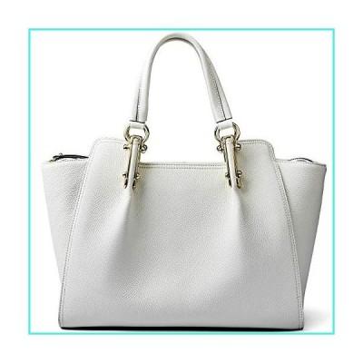 【新品】QIWANG Womens Tote Bag Genuine Leather Handbag Large Fashion Satchel Bags With Long Strap(並行輸入品)