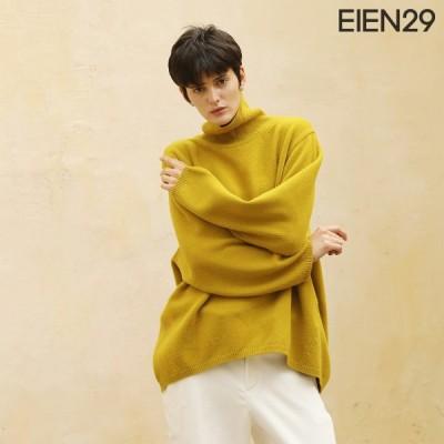 日本未発売 EIEN29 ニット 長袖 ウール カシミア セーター トップス シンプル 無地 タートルネック プルオーバー 母の日